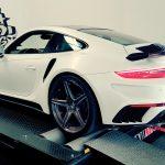 Porsche 911 Turbo S Stinger on dyno